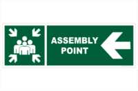 Assembly Point Left sign