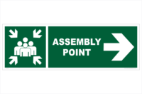Assembly Point Right sign