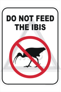 Feed Ibis sign