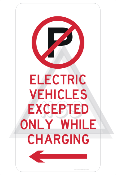 Electric Vehicle Parking Only sign R5-41-5L