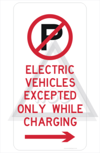 Electric Vehicle Parking Only sign R5-41-5R