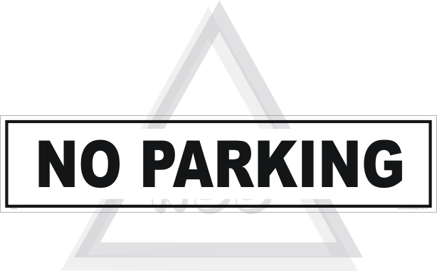 No Parking here Sign