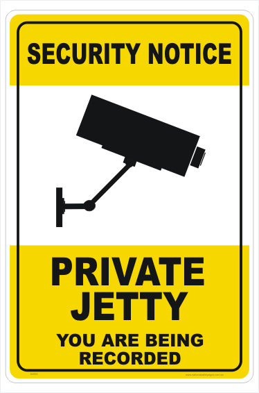 Private Jetty Sign