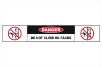 Do Not Climb Racks sticker