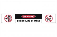 Do Not Climb Racks sticker