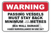 Passing Vessels Warning sign