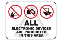 Electronic Devices Prohibited sign