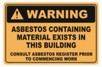Asbestos Material Sign