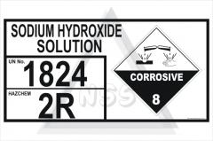 Sodium Hydroxide Solution Storage Panel