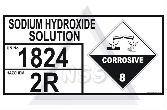 Sodium Hydroxide Solution Storage Panel