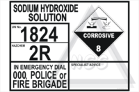 Sodium Hydroxide Solution Transport Panel