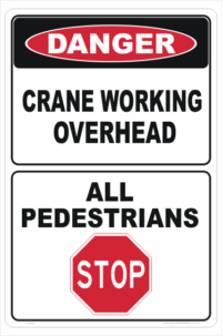 Overhead Crane Danger sign