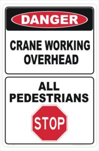 Overhead Crane Danger sign