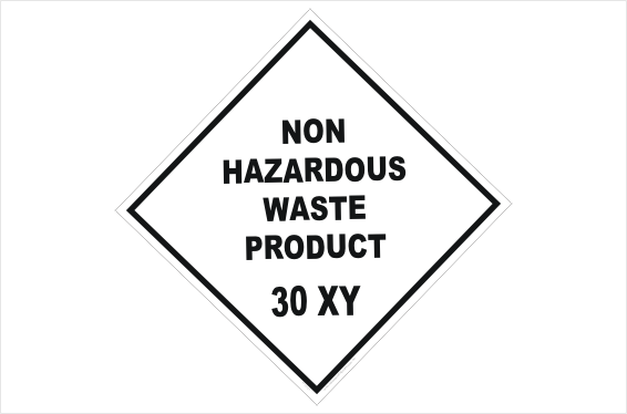Non Hazardous Waste Placard