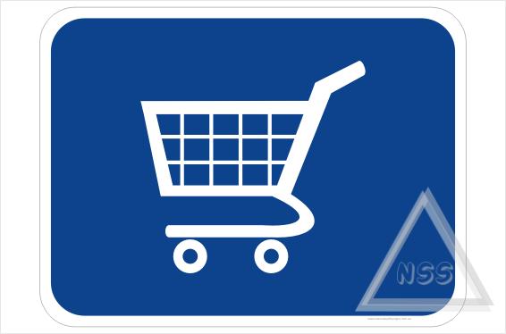 Shopping Trolley Return sign