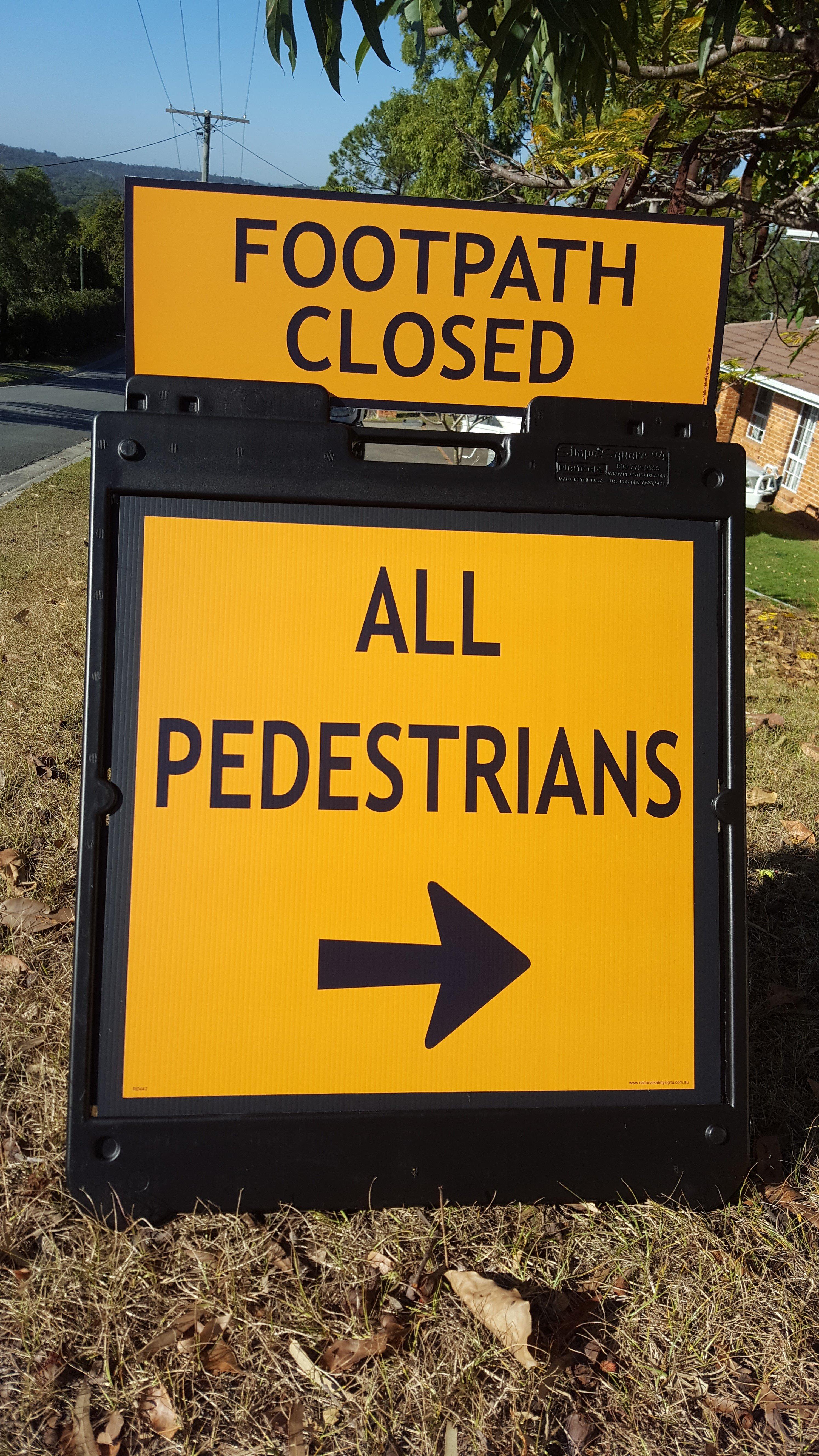Temporary Pedestrian Sign