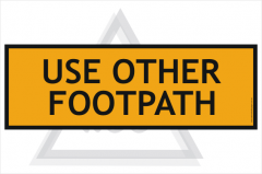 Use Other Footpath sign 600x200