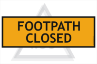 Footpath Closed sign 600x200mm