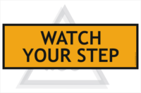 Watch your Step Extra sign