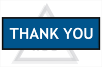 Thank You sign 600x200mm