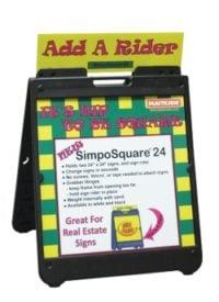 Plasticade SimpoSquare Sign Stand