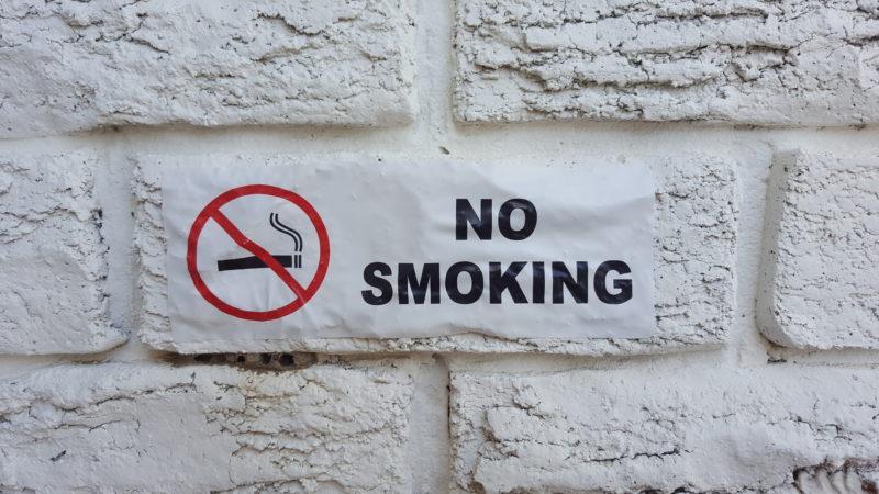 No Smoking super stick decal