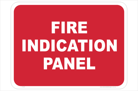 Fire Indication Panel sign