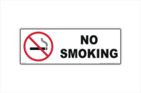No-Smoking vinyl sticker