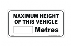 Vehicle Height sticker