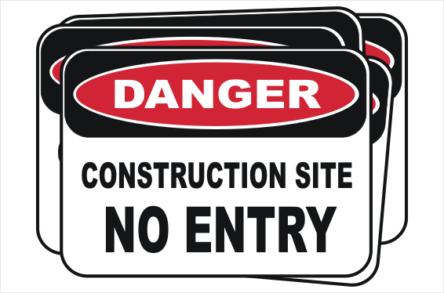 Bulk buy Construction Site No Entry signs