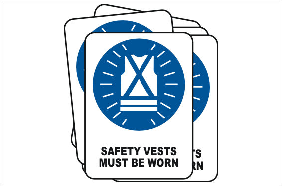 Bulk buy Safety Vests signs