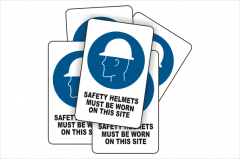 Bulk buy Safety Helmet signs
