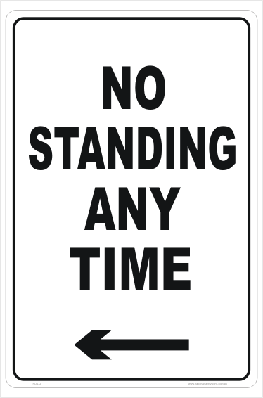 No Standing Anytime