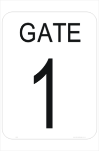 Gate Number sign