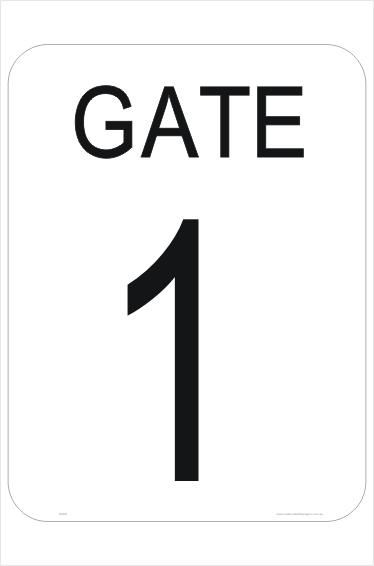 Gate Number sign