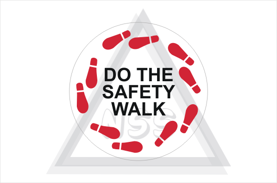 Safety Walk sticker