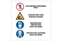 Asbestos Removal Warning Sign