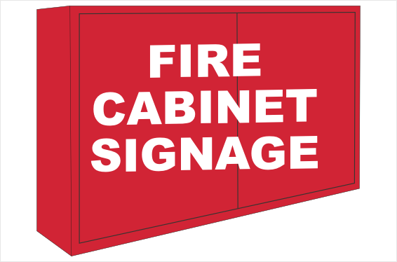 Fire Cabinet signs