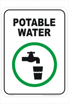 Potable water sign