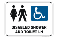 Unisex Disabled Shower sign