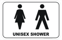 Unisex Shower sign