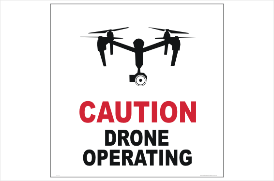 Drone Caution sign