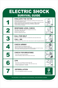 Electric Shock Survival sign