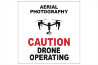 Drone Aerial Photography sign