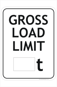 Gross Load Weight Limit Sign
