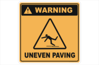 Uneven Paving sign