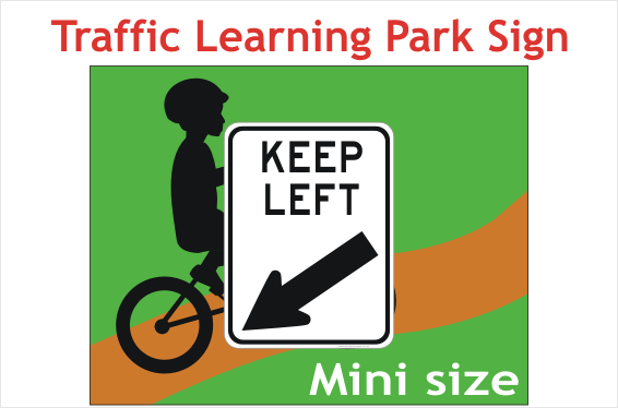 Mini Keep Left sign