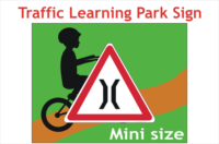 Road Narrows Road safety park sign