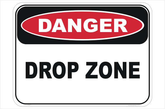 Drop Zone sign