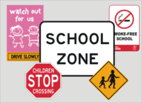 Playground and School signs